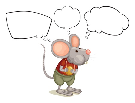Illustration of a rat with empty callouts on a white background Vector