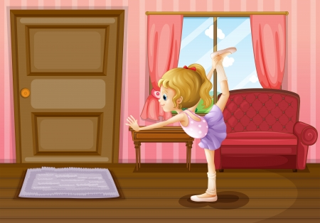floor mat: Illustration of the ballet dancer Illustration