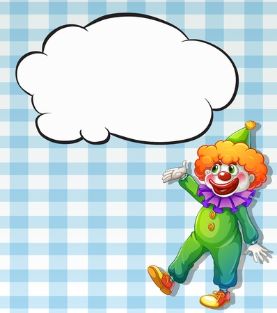 Illustration of a clown with empty callouts Vector