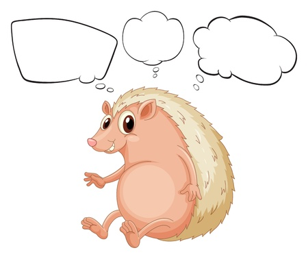 Illustration of a molehog with empty callouts on a white background Vector