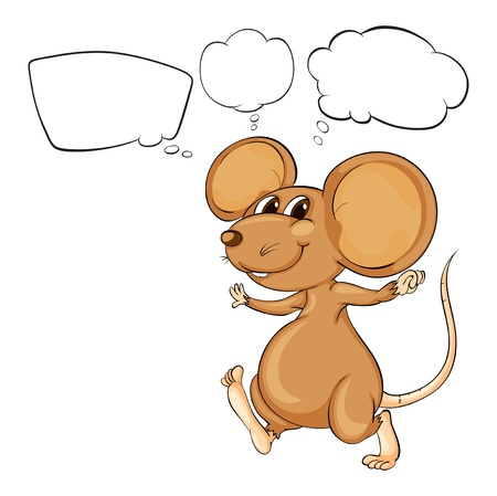Illustration of the mighty brown mouse on a white background Vector