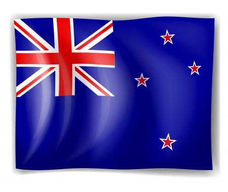 bandera de nueva zelanda: Ilustración de la bandera de Nueva Zelanda en un fondo blanco Vectores