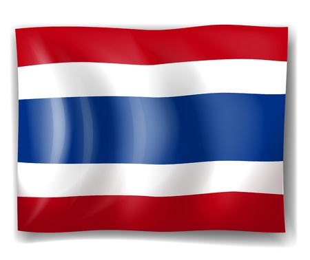 king thailand: Illustration of the Thailand flag on a white background