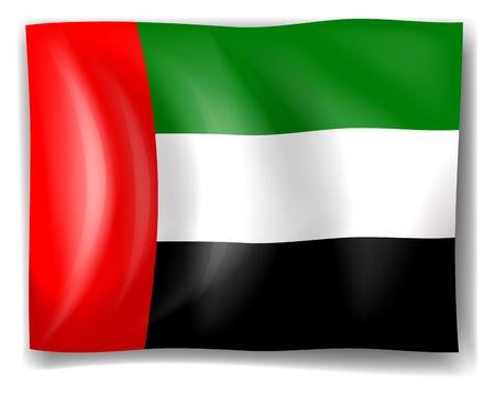 arab flags: Illustration of the flag of the United Arab Emirates on a white background Illustration