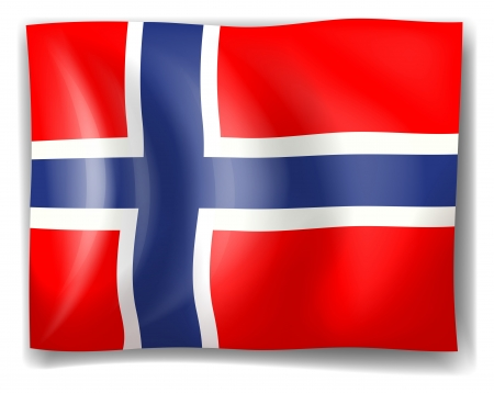 Illustration of the flag of Norway on a white background