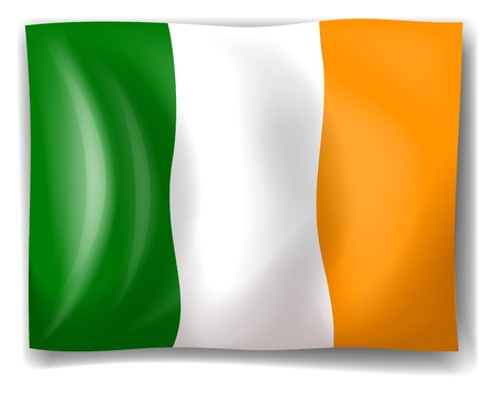 Illustration of the flag of Ireland on a white background Vector