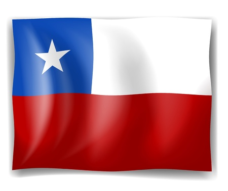 unequal: Illustration of the flag of Chile on a white background