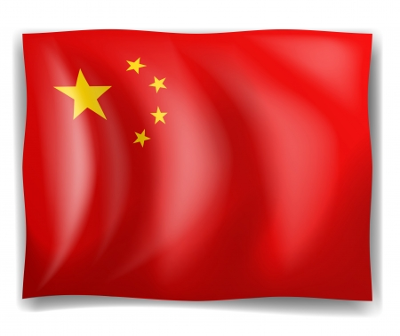 Illustration of the flag of China on a white background Illustration