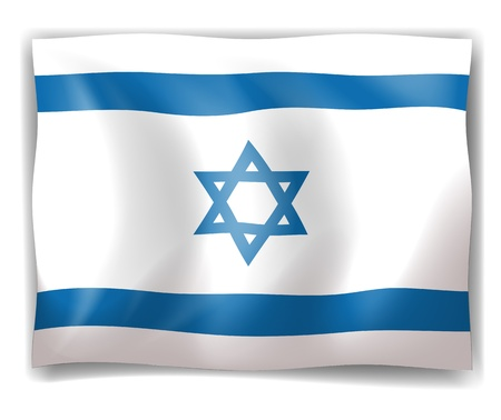 Illustration of the flag of Israel on a white background Stock Vector - 18210262