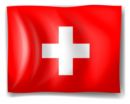 swiss insignia: Illustration of the flag of Switzerland on a white background Illustration