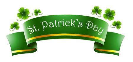 feast of saint patrick: Illustration of a green symbol for St. Patricks Day on a white background