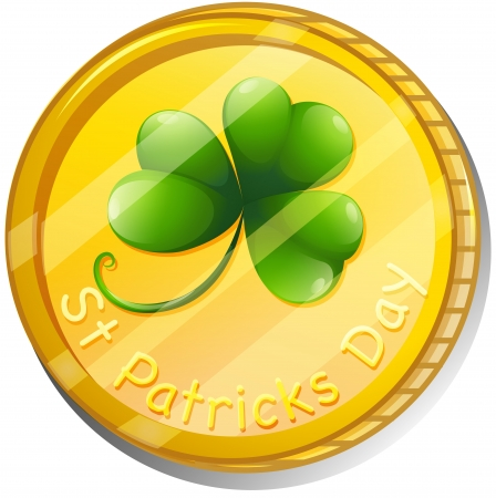 token: Illustration of a token for St. Patricks Day on a white background