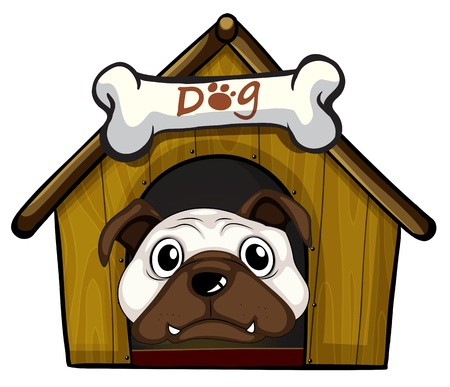 dog kennel: Illustration of a head of a dog
