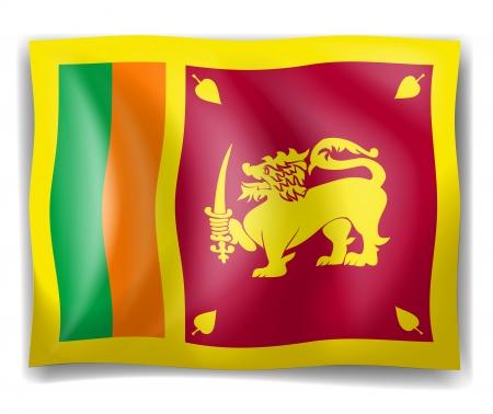 srilanka: Illustration of the flag of Sri Lanka on a white background Illustration
