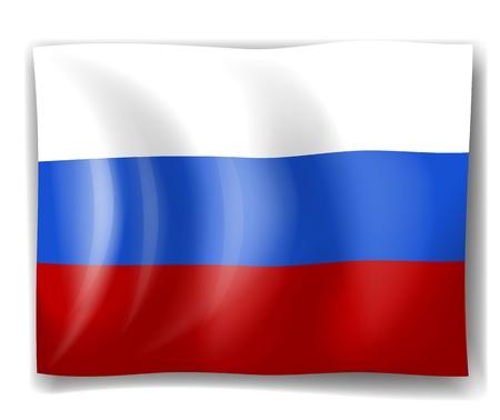 bandera rusia: Ilustración de la bandera de Rusia sobre un fondo blanco Vectores
