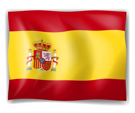 Illustration of the Flag of Spain on a white background Stock Vector - 18210381