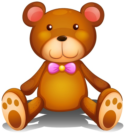 Illustration of a brown stuff toy on a white background Stock Vector - 18265799