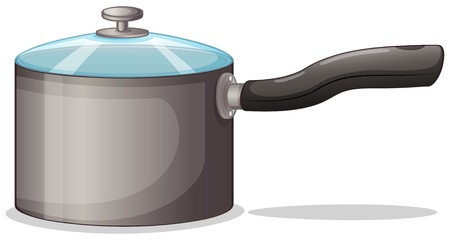 food storage: Illustration of a pot on a white background