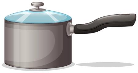 Illustration of a pot on a white background