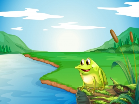 Illustration of a frog at the riverbank Stock Vector - 18266247
