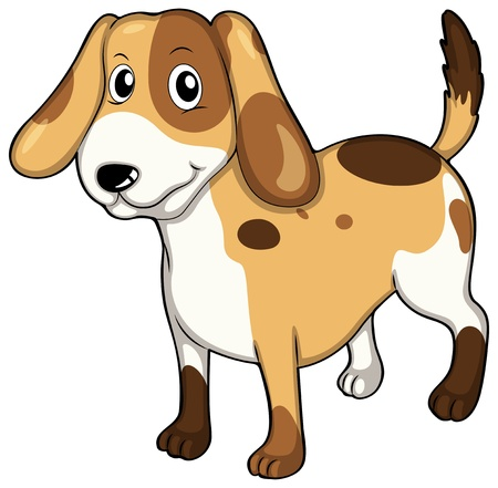 bestfriend: Illustration of an adorable pet on a white background