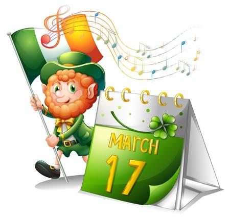 patron saint of ireland: Illustration of the celebration for St. Patricks Day on a white background Illustration