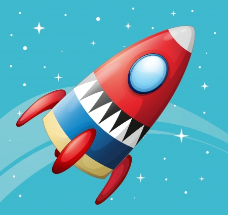 Illustration of a flying spaceship Stock Vector - 18265881