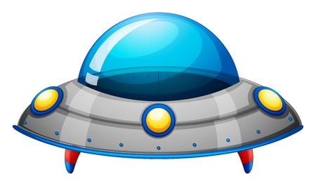 Illustration of a spaceship toy on a white background Vector