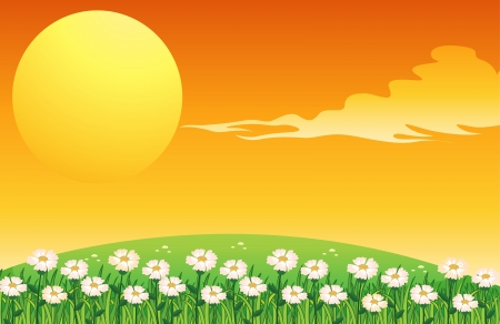 Illustration of a sunset scene Stock Vector - 18287920