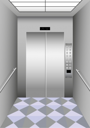 Illustration of a building elevator Vector