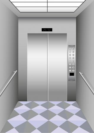 Illustration of a building elevator