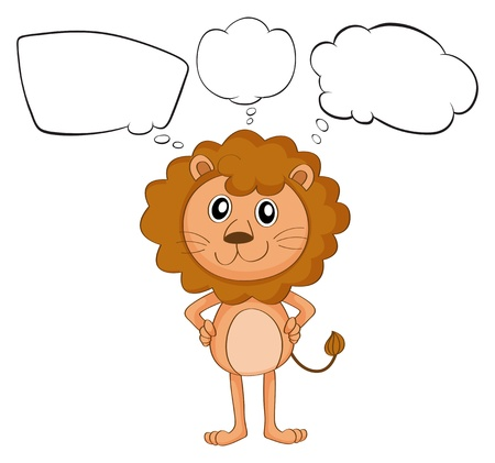 shape cub: Illustration of a young lion with empty callouts on a white background