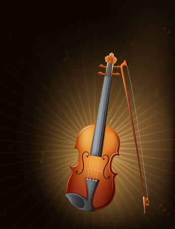 Illustration of a string instrument Stock Vector - 18324145