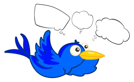 Illustration of a blue flying creature on a white background Vector