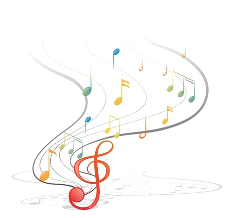gclef: Illustration of the musical notes on a white background