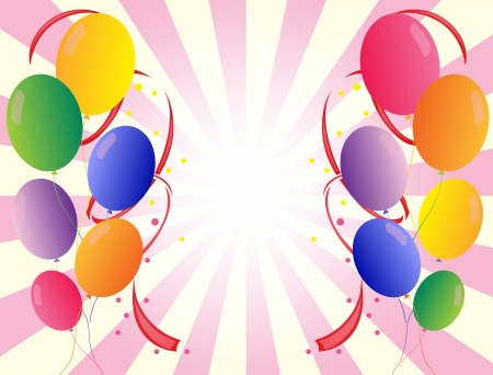 Illustration of the party balloons in different colors Stock Vector - 18390327