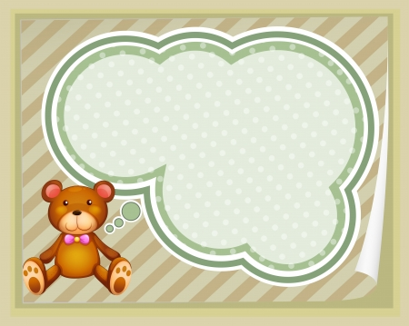 Illustration of a huggable bear with an empty callout Vector