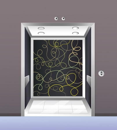 pic: Illustration of an empty elevator