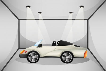 parked: Illustration of an elegant sports car at the garage