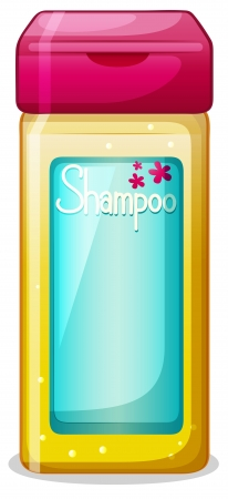 Illustration of a bottle of shampoo on a white background Vector