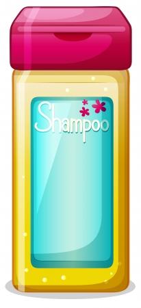 Illustration of a bottle of shampoo on a white background Illustration
