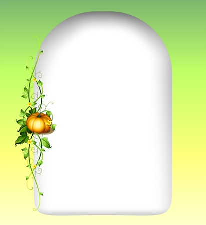 vine  plant: Illustration of an empty space with a vine plant Illustration
