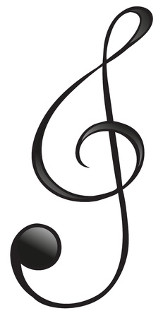 gclef: Illustration of the G-clef symbol on a white background