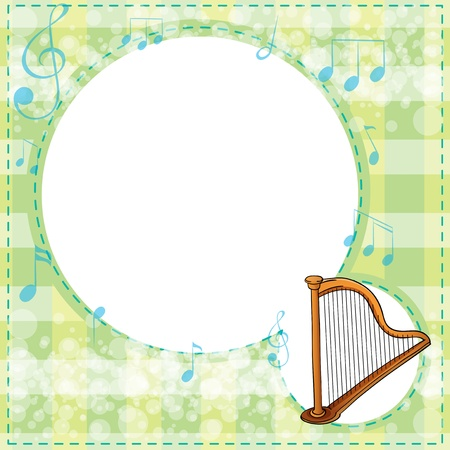 Illustration of a musical stationery Vector