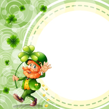 feast of saint patrick: Illustration of a man holding a plant with coins in his pocket