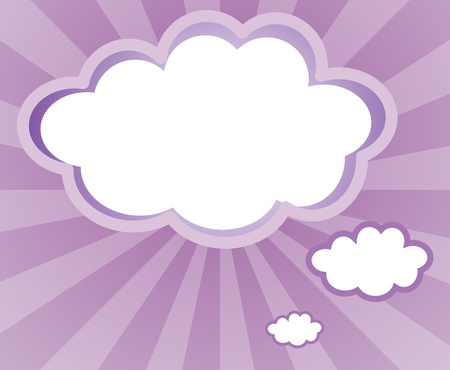 Illustration of an empty space in a cloud form Stock Vector - 18458074