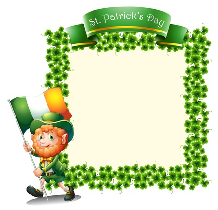 Illustration of an empty frame for St. Patrick's day on a white background Stock Vector - 18459519