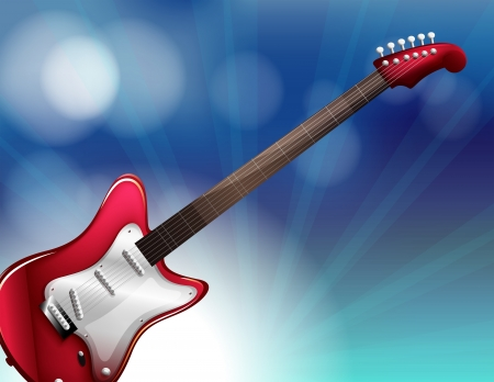 Illustration of a red electric guitar Stock Vector - 18549626