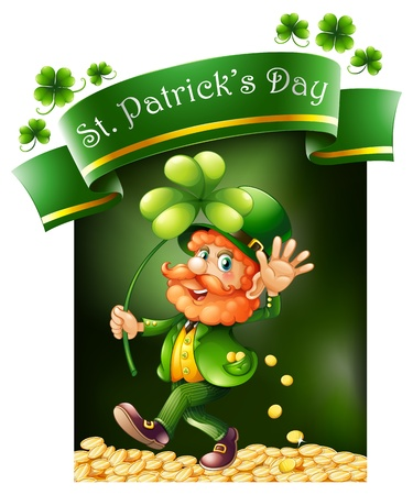 Illustration of a card template for St. Patrick's Day on a white background Stock Vector - 18549708