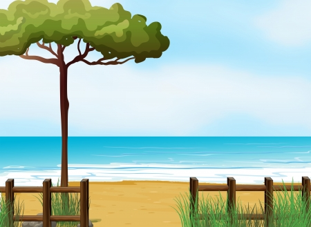 Illustration of a quiet beach Stock Vector - 18549459